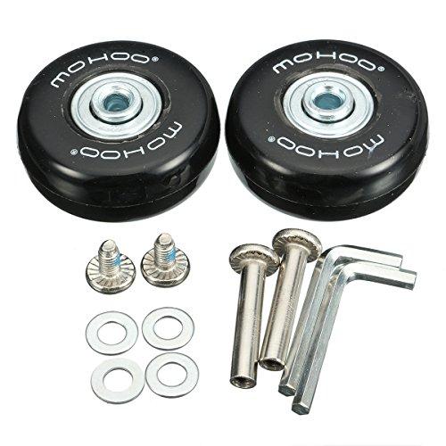 MOHOO 50x18mm Gepäck-Koffer Ersatz Wheels Rad mute runde Räder Gummi koffer Räder Set für Gepäck-Koffer Ein Paar (Gepäck 50)