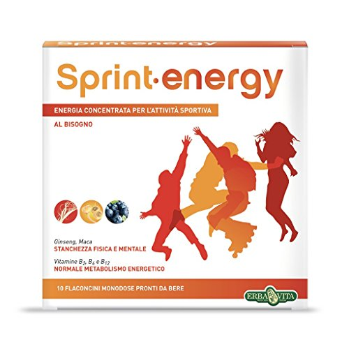 Erba Vita Integratore Alimentare Sprint Energy - 10 Flaconi x 12 ml