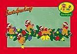 Fischer Fensterbild WEIHNACHTLICHE TEDDYRANKE / Bastelpackung / Größe ca. 93x39 cm /zum Selberbasteln / Basteln mit Papier und Pappe für Weihnachten