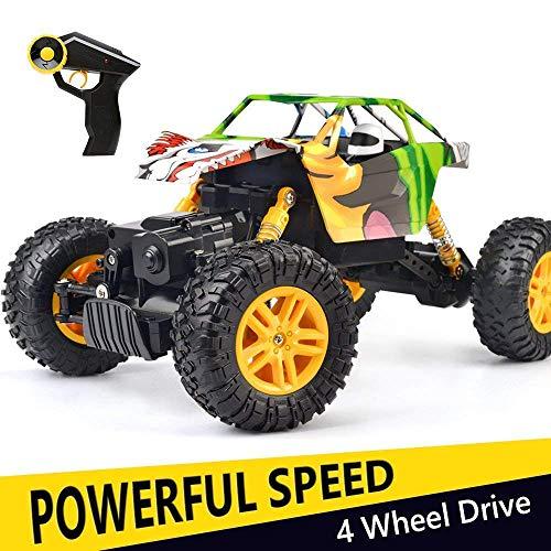 Coche RC 4x4 Radiocontrol 1:18 Juguete de Control Remoto 2.4Ghz 4WD RC Buggy Race Crawler