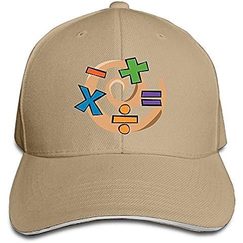 XJ-cool matematica simbolo Protegge dai raggi UV cappello regolabile cappello visiera Sandwich Navy - Lima Cappello