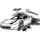 Sportwagen schwarz Wandaufkleber selbstklebend Schlafzimmer Dekoration Schlafsaal PVC Aufkleber personalisierte Wohnzimmer Sofa TV Hintergrund Tapeten