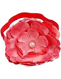NeedyBee Headband for Newborn/Infants/Baby Girls With Big Flower(Kids Hair Accessories) (Red)