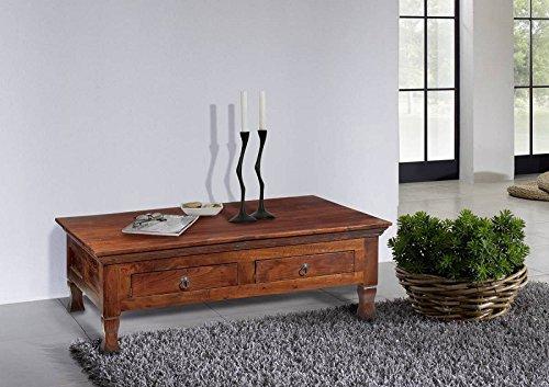 MASSIVMOEBEL24.DE Kolonialstil Couchtisch 120cm Akazie massiv Möbel Oxford #445