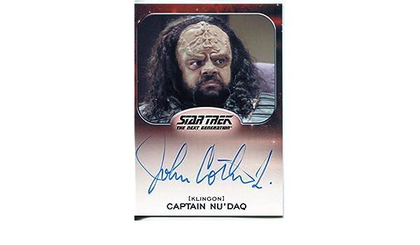 as Captain Nu/'Daq Autograph Card John Cothran Jr 2014 Star Trek Aliens