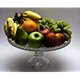 Star Galaxy, Crystalline Marriele Design Glass Large Footed Fruit Plate