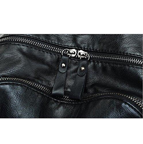 Damen Rucksack Bulk Persönlichkeit Rucksack Tasche Black
