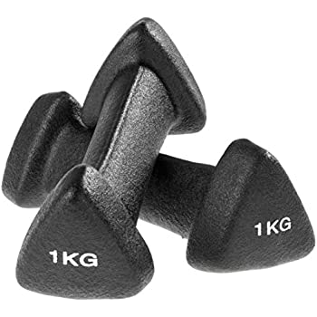 Ultrasport 331100000111 - Mancuernas Suaves de Gimnasia, Antideslizantes, 2 x 1 kg