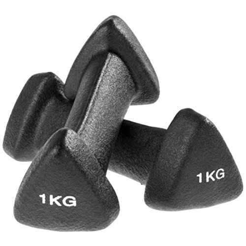 Ultrasport Gymnastik Soft Hantel, 2 x 1 kg, Schwarz, 331100000111