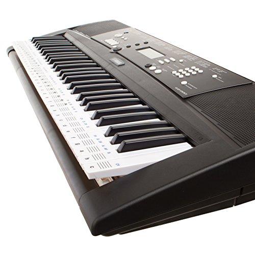 durchsichtige, ablösbare Keysies-Aufkleber für die Klavier- und Keyboardtastatur – mit praktischer Anleitung. - 3