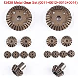 Meiyiu 12T 24T 30T Metal Motor Driving Gear Planet Gear Differential Gear Combo Kit For WLtoys 12428 RC Car Truck Vehicle Part 16PCS/Set
