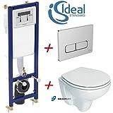 Ideal Standard Cadre WC encastré avec fixation murale à WC avec siège à fermeture douce