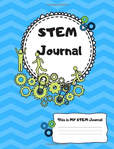 This is MY STEM Journal: Green Gears Science Engineering Technology  Mathematics Composition Sized Graph Lined Paper Notebook