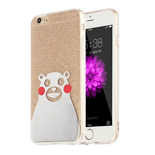 "MOONCASE iPhone 6 Plus Coque, Bling Glitter Motif Etui TPU Silicone Antichoc Housse Case pour iPhone 6 Plus / iPhone 6s Plus (5.5"") (Chat - Or) Ours - Or"