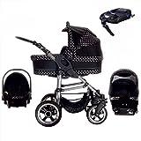 Bebebi London | ISOFIX Basis & Autositz | Luftreifen | 4 in 1 Kinderwagen Set | Farbe: Westminster
