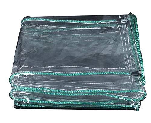 ZHhome Lona Transparente, Lona Impermeable Resistente, Adecuado para la decoración del artículo, Decoración del jardín, Acampar al Aire Libre, Tienda para campamentos, Opciones de Varios tamaños