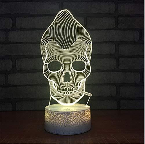 Neue Halloween 3d Nachtlicht Kreative Sieben Farbmaske Led Lampe Neue Phantasie Produkt Großhandel Leuchten ()