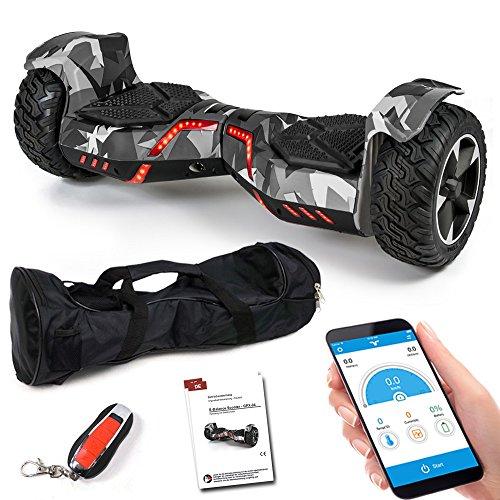 "8,5\"" SUV Balance Scooter - GPX-04 Ares mit App & Bluetooth, Dual Motor, Lautsprecher, Kinder Sicherheitsmodus, Elektro Self Balance Board E-Scooter Hover Wheel (camo/grau)"