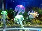Domire PurPle Glowing Effect Artificial Fake Jellyfish for Fish Tank Decoration Ornament