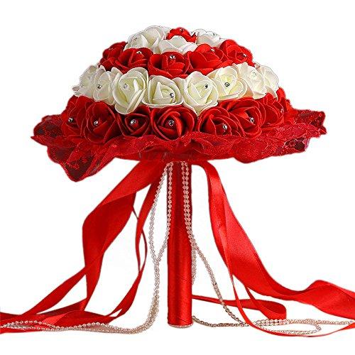 Blumenstrauss Piebo Unechte Blumen Künstliche Deko Kunstblumen Blumen-Bouquet Blumenstrauß Bridal Bouquet Braut Hochzeitsblumenstrauß Wohnaccessoires Geburtstag Jahrestag