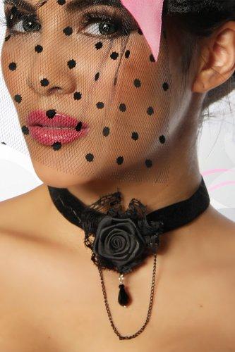 Gothic-Halsband Halsband schwarz, Größe Atixo:OS