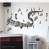 YAZCC Applique Decorativa Amazon Vendita di Grandi Dimensioni Nota Musicale Adesivi murali Adesivi murali Graffiti Art Home Decor