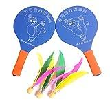 WINOMO Beachball Set mit 2 Schläger und 3 Federball für Kinder und Erwachsene