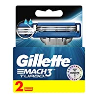 Gillette Mach3 Turbo Men's Razor Blades, 2 Refills