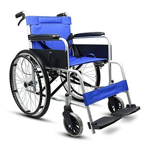 JD - Sedia a rotelle in Lega di Alluminio, Leggera e Facile da trasportare, con Pneumatici So