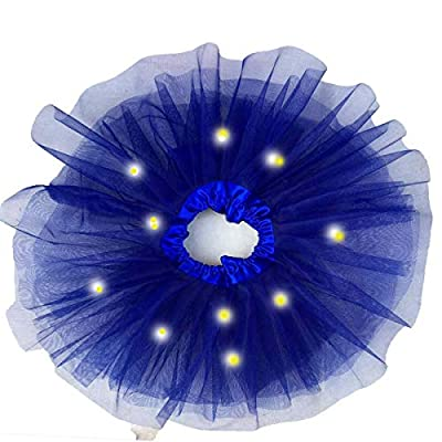 """Tutu Skirt - Mini Skirt For Ballet Dance Photography Prop Costume Outfit Party Dance wear ,Sparkling Stars Sequins Princess Girl's Pettiskirt Dress-up Tutu Tulle Skirt.LED LIGHTS INSIDE """"RED"""" AND """"PINK"""" SKIRT(.SKIRTS COLOUR WILL BE SAME AS SHOWN IN THE PI"""