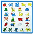 6 Kiddies Printed Loose 100% Cotton Alphabet Handkerchiefs
