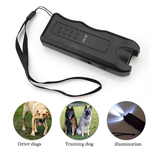 Preisvergleich Produktbild A-szcxtop Neueste Ultraschall Hund Chaser Puppy-Zurückrufer Trainer Tool und LED Notfall Lampe mit Handgelenk Seil für Anschläge zu Hund Wild Anmial Taschenlampe Ideal für Camp Travel Outdoor Activity