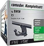 Rameder Komplettsatz, Anhängerkupplung Abnehmbar + 13pol Elektrik für BMW X5 (113240-04343-1)