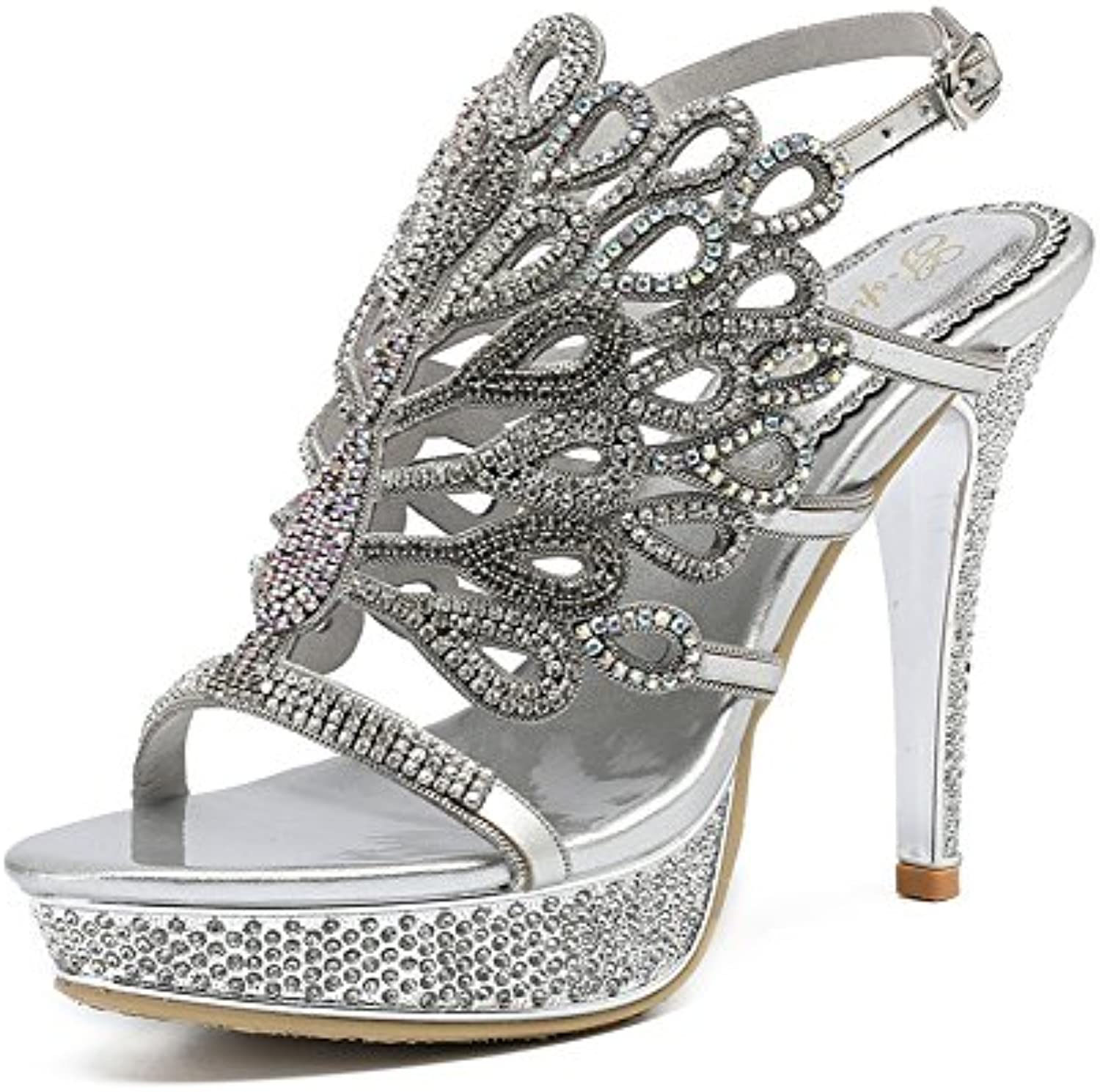 7fe8d20df06 ZPL ZPL ZPL Women s Ladies Mid Low High Heel Strappy Rhinestone peacock  Party Wedding Prom Sandals Shoes Size B07CTP1LYV Parent 2ba9bf