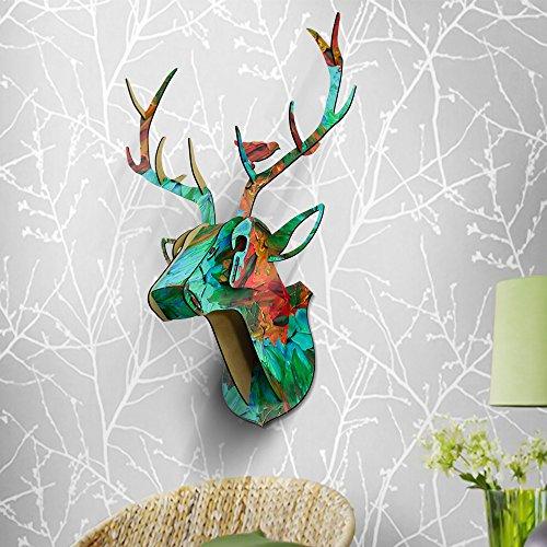 3D DIY Rentier Kopf Wand Decor Retro Festival Wohltätigkeitszwecke Home Dekorationen Multi -