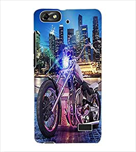ColourCraft Bike Design Back Case Cover for HUAWEI HONOR 4C
