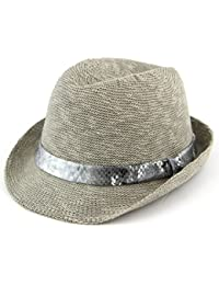 bcb5fa6f047 Hawkins women s lightweight trilby hat with faux leather snakeskin band