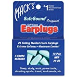 Mack's Safe Sound Ear Plugs, Pack Of 10 - With Free Travel Case