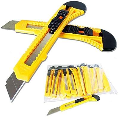 Timtina 10 Cuttermesser Teppichmesser mit 18mm Abbrechklingen von timtina - TapetenShop
