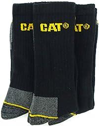 Caterpillar - Chaussettes de Travail pour Hommes Neuf (Lot de 3 Paires) - Noir/Gris
