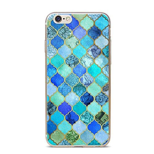 Cover per iPhone 6 Plus, Bonice TPU Gel Silicone Protettivo Custodia Case Cover Per iPhone 6 Plus/ iPhone 6S Plus - Viola model 02