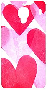Pink Hearts Back Cover Case for Xiaomi Mi 4