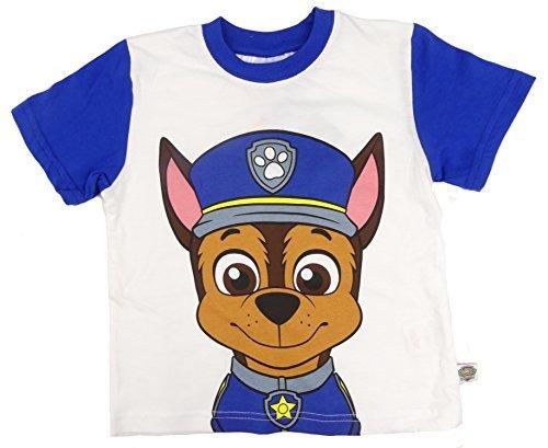 Paw Patrol T-Shirts Marshall Chase Zuma oder Rocky Vier zur Auswahl 2-3 to 6 - Blau Chase, 92-98