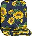 Beo Gartenstuhlauflage Gartenstuhlkissen Sitzkissen Polster für Niedriglehner Sonnenblumen Blau von beo - Gartenmöbel von Du und Dein Garten
