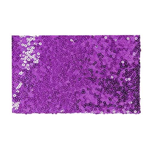 Uonlytech 3mm glänzend Pailletten Stoff leicht zu schneiden Kostüm Stoff für die Herstellung von Tischdecke, Tischläufer, Kleid 135x100 cm - Schneide Kostüm