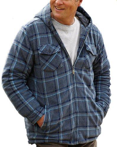 Champion-Dundee Pays Estate Clothing Manteau d'hiver à capuche polaire & Bleu - Blue-Sky