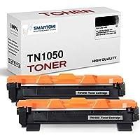SMARTOMI - 2 Cartuchos de tóner Negro compatibles con Cartuchos TN1050 para impresoras Brother de Las Series HL-1110 HL-1112 HL-1212 HL-1210 DCP-1510 DCP-1610 DCP-1612 DCP-1512 MFC-1810 y MFC-1910