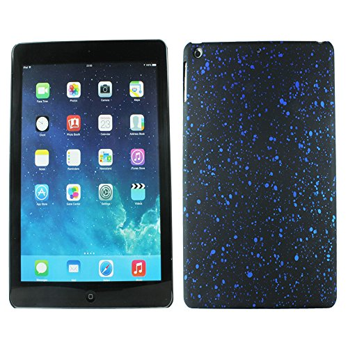 Heartly Night Sky Glitter Star 3D Printed Design Retro Color Armor Hard Bumper Back Case Cover For Apple iPad Air Tablet (iPad 5) - Dark Blue  available at amazon for Rs.129