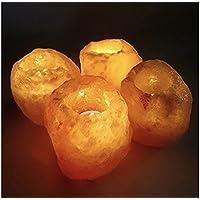 GeoFossils 4 Salt Candle Tea Light Holders (Bundle)