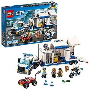 LEGO CityPolice CentrodiComandoMobile, Set di Costruzioni,Camion e Moto,Giochi per Bambini Ispirati alla Polizia, 60139  LEGO
